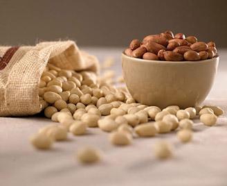 5 lb. Burlap Bag Raw Peanuts, Blanched