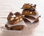 Chocolatey Covered Peanut Brittle