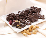Dark Chocolatey Covered Nutty Fruit Clusters